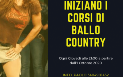 INIZIANO I CORSI DI BALLO COUNTRY