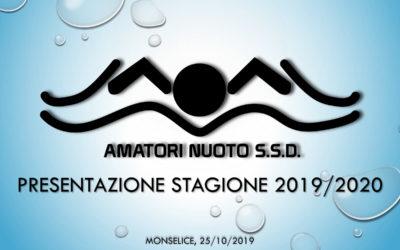 Conferenza stampa per la presentazione della stagione sportiva 2019-2020 – Settore agonistico Amatori Nuoto