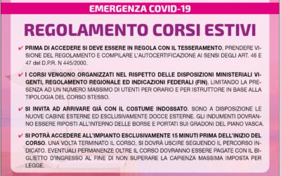REGOLAMENTO CORSI ESTATE 2020